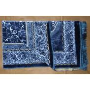 Tapis de prière velours - Bleu -
